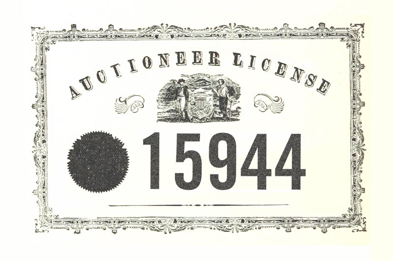Auctioneer License #15944